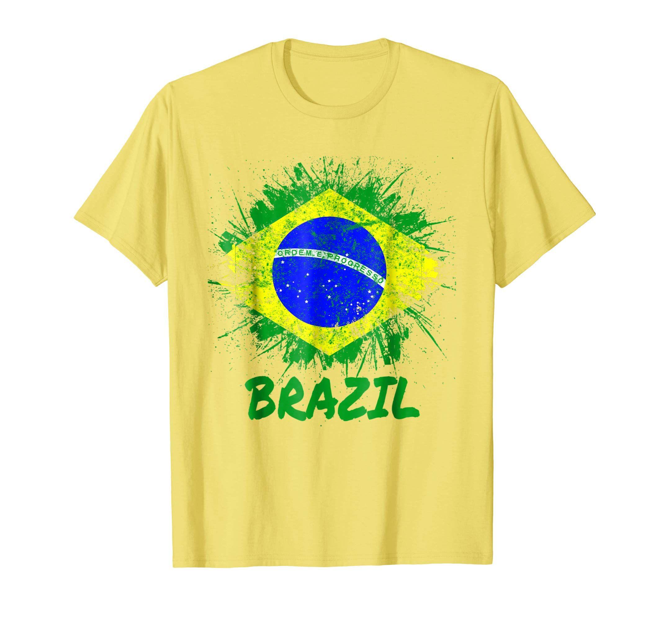 XXXL Mens Womens Brazilian Football Shirt Brazil Retro Yellow S M L XL