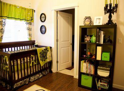 lime green and black airplane baby nursery theme we chose a modern