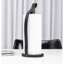 By Wirth Hands On Paper Towel Holder Black Leather Oak Dispenser Designed Signe Engelund For In