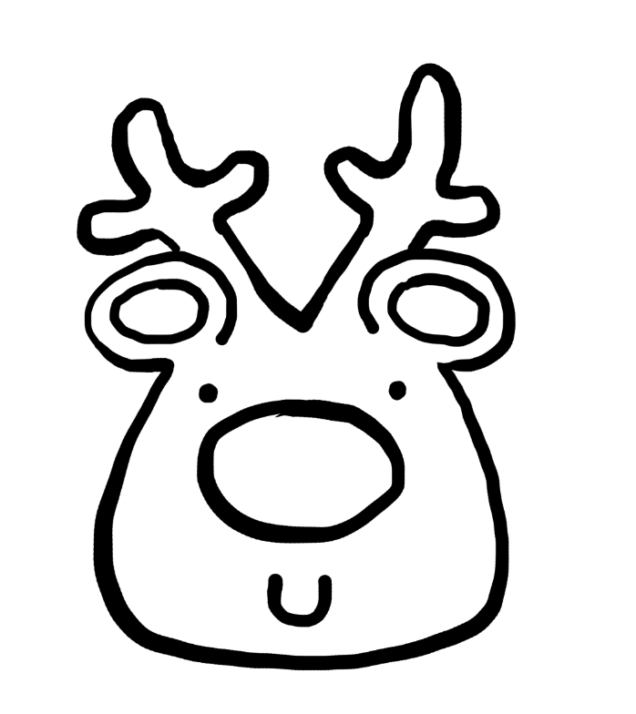 How To Draw A Christmas Reindeer face in ten simple steps