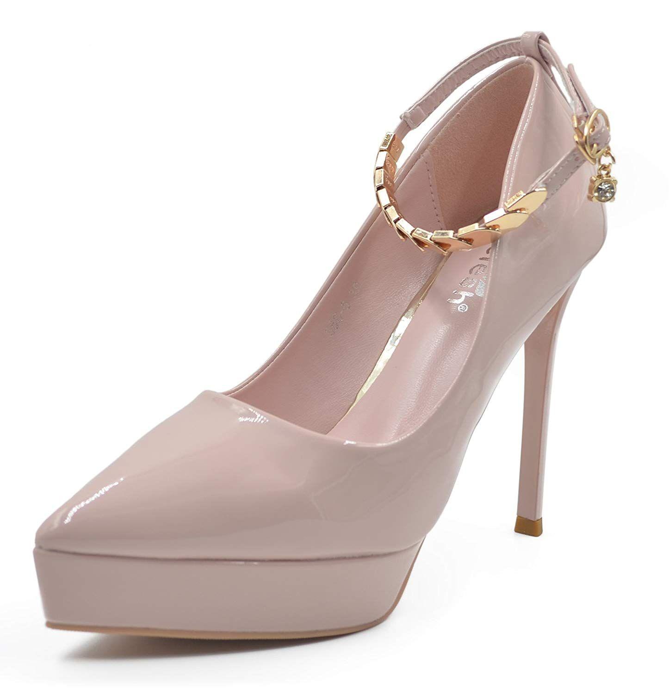adfc45418f7 Melesh Women s Bridal Wedding Party New Classic Elegant Versatile High  Stiletto Heel Dress Platform Pumps Shoes