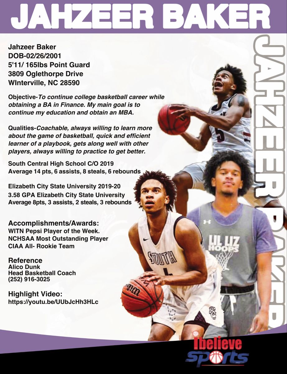 Pin On Player Profiles Recruiting Flyers