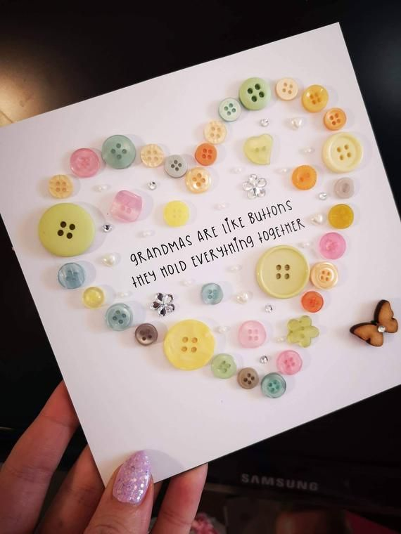 Button art frame for Mum, Nana, Grandma, Sister, Auntie, Godmother, Cousin etc #mumsetc