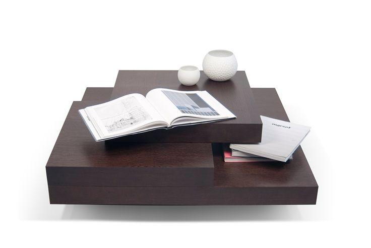 Temahome Slate Chocolate Tinted Multi Level Coffee Table