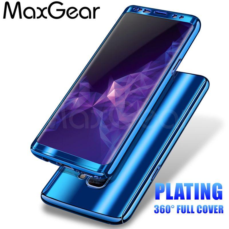 Maxgear 360 Grad Stossfest Fallen Fur Samsung Galaxy S8 S9 Plus Telefonkasten Fur Samsung S7 S7 Kantenbeschichtung Spiegel Voller Abdeckung Phone Sell Phone Cases Phone Accessories