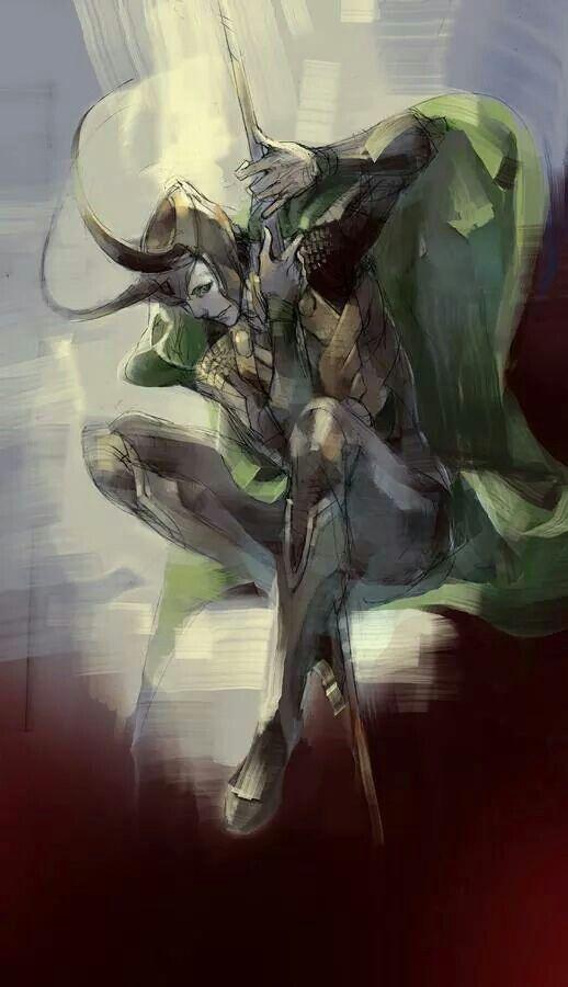 Awesome art work of Loki