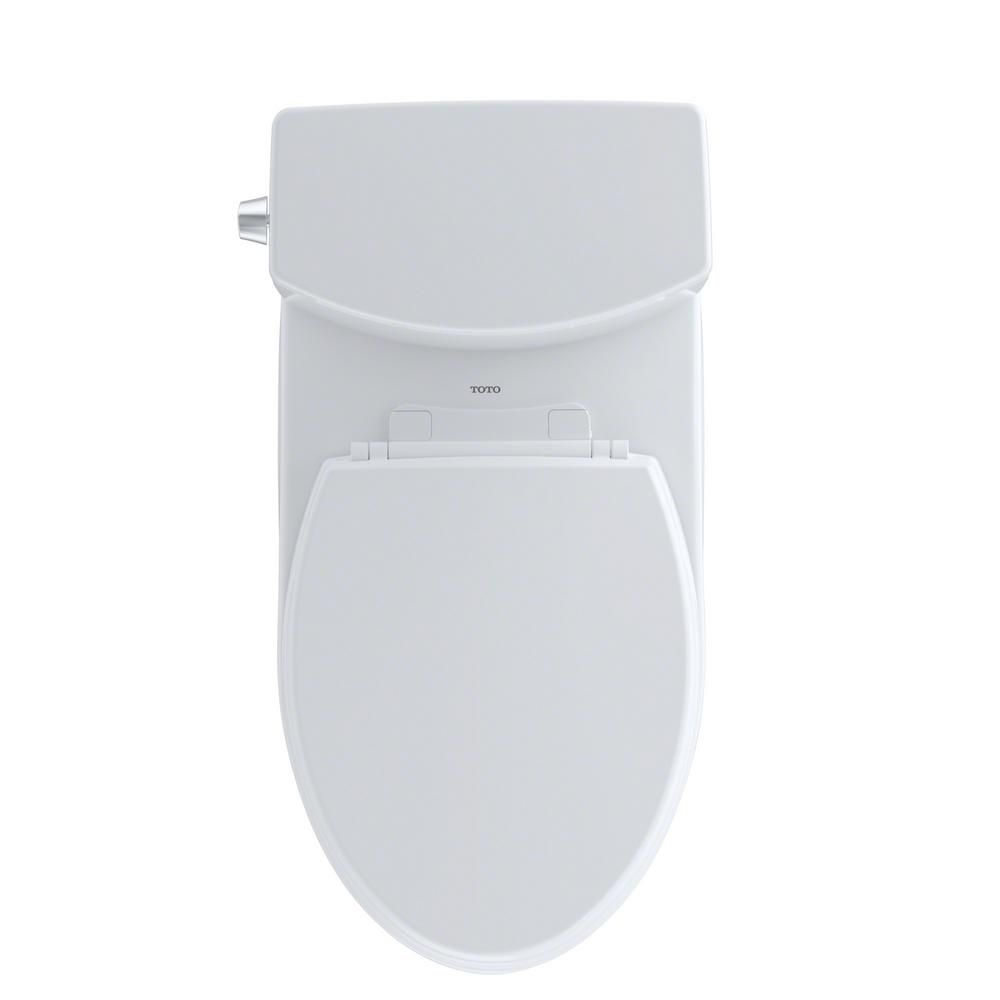 Toto Drake Ii 2 Piece 1 0 Gpf Single Flush Elongated Toilet With Cefiontect In Cotton White Cst454cufg 01 Toto Water Sense Elongated