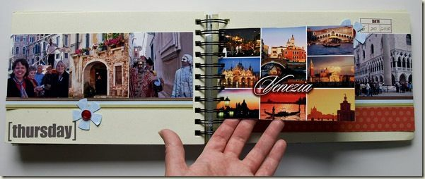 Why didn't I think of using postcards for journaling in a vacation mini-album!
