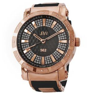 Jbw Men S Jb 6225 L 562 Pave Dial Diamond Black Rubber Band