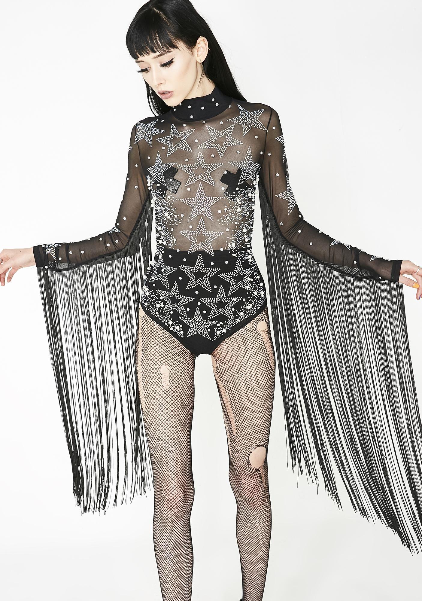 da5607778148 Electric Starlet Fringe Bodysuit | My Style | Rhinestone dress ...