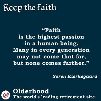 In Faith we Find a Happy Retirement. Lots of cool stuff for the older, but wiser, generation.