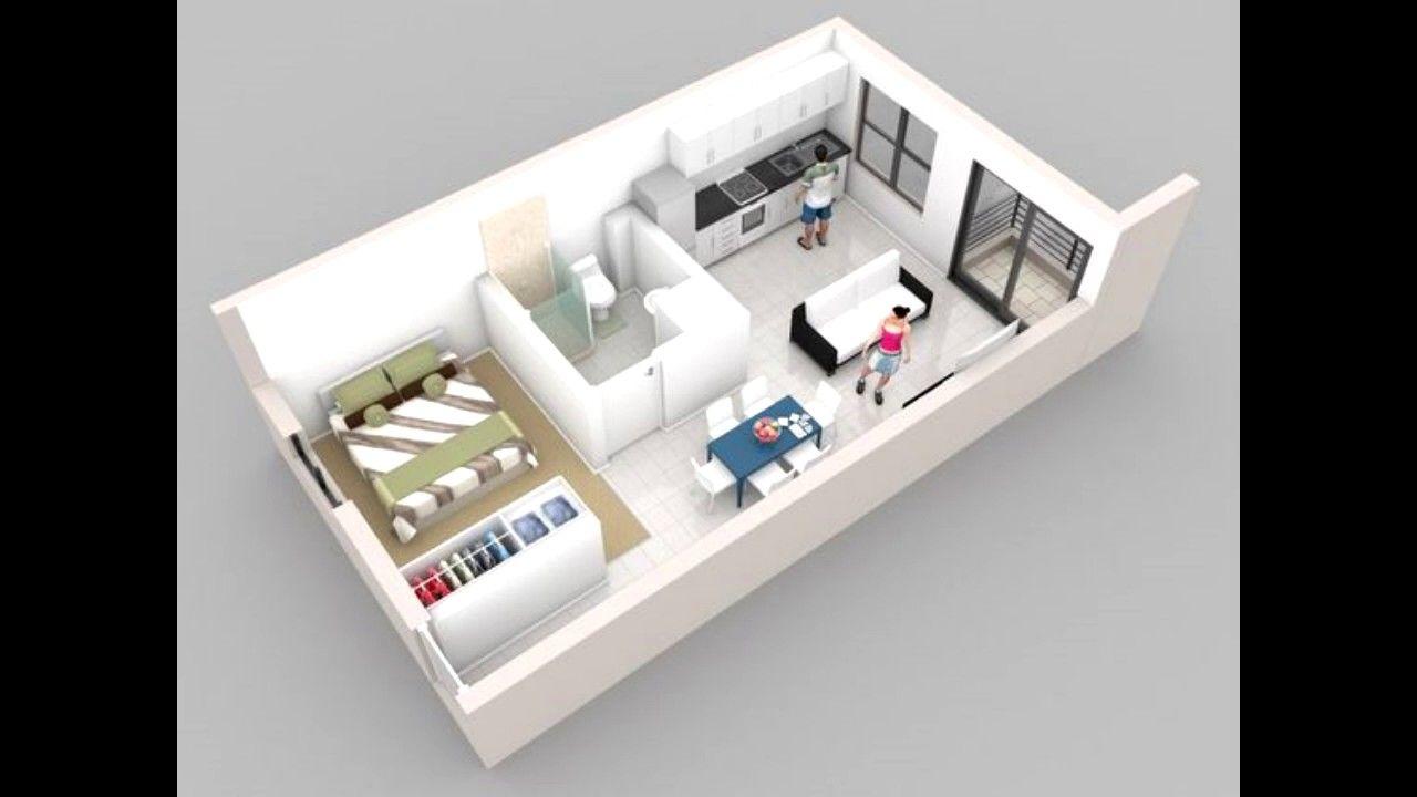 100 ideas apartamentos peque os y modernos espacios - Disenos de apartamentos pequenos ...