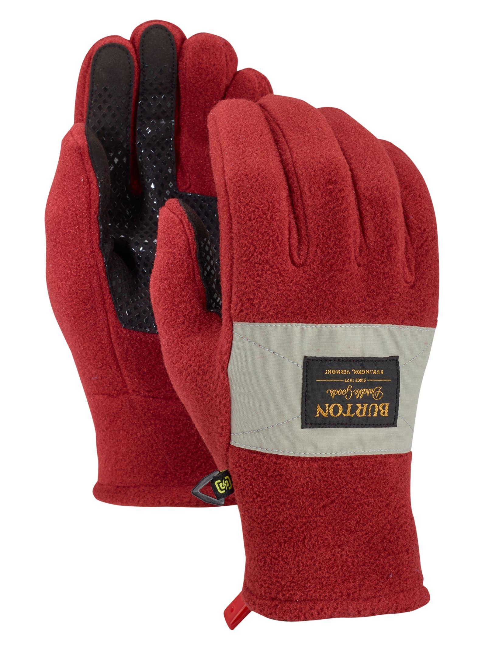 Pigskin Knitted Wool Glove Winter Thicken Fleece Warm Men Big Size Leather Glove
