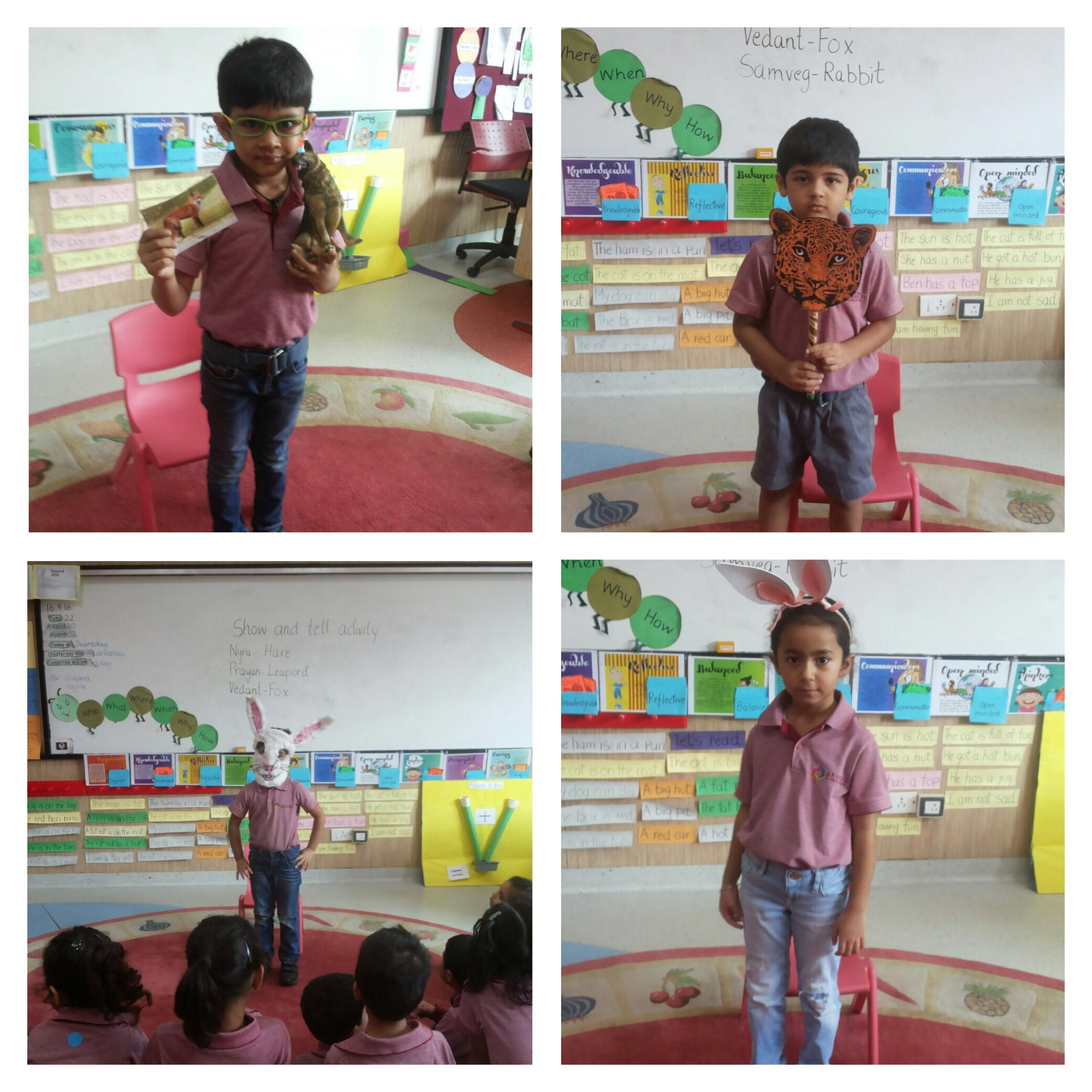 Learners Of Kindergarten Carried Out Show And Tell