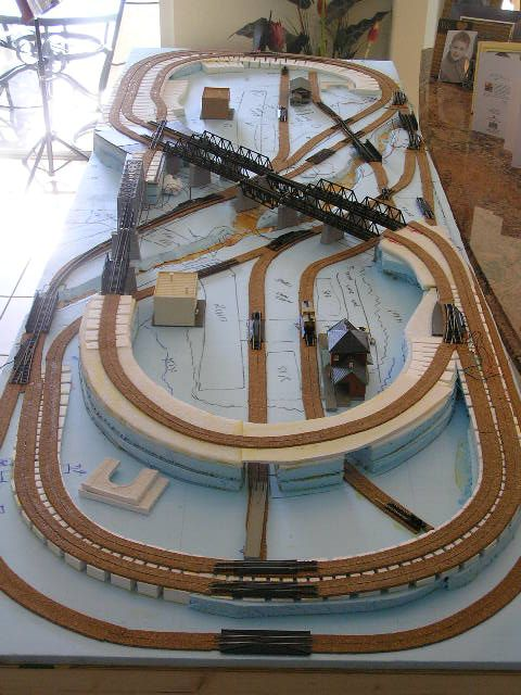 n scale model railroad wouldn t i like to have enough space for this sort of layout i live in a studio apartment my n scale is 3x4