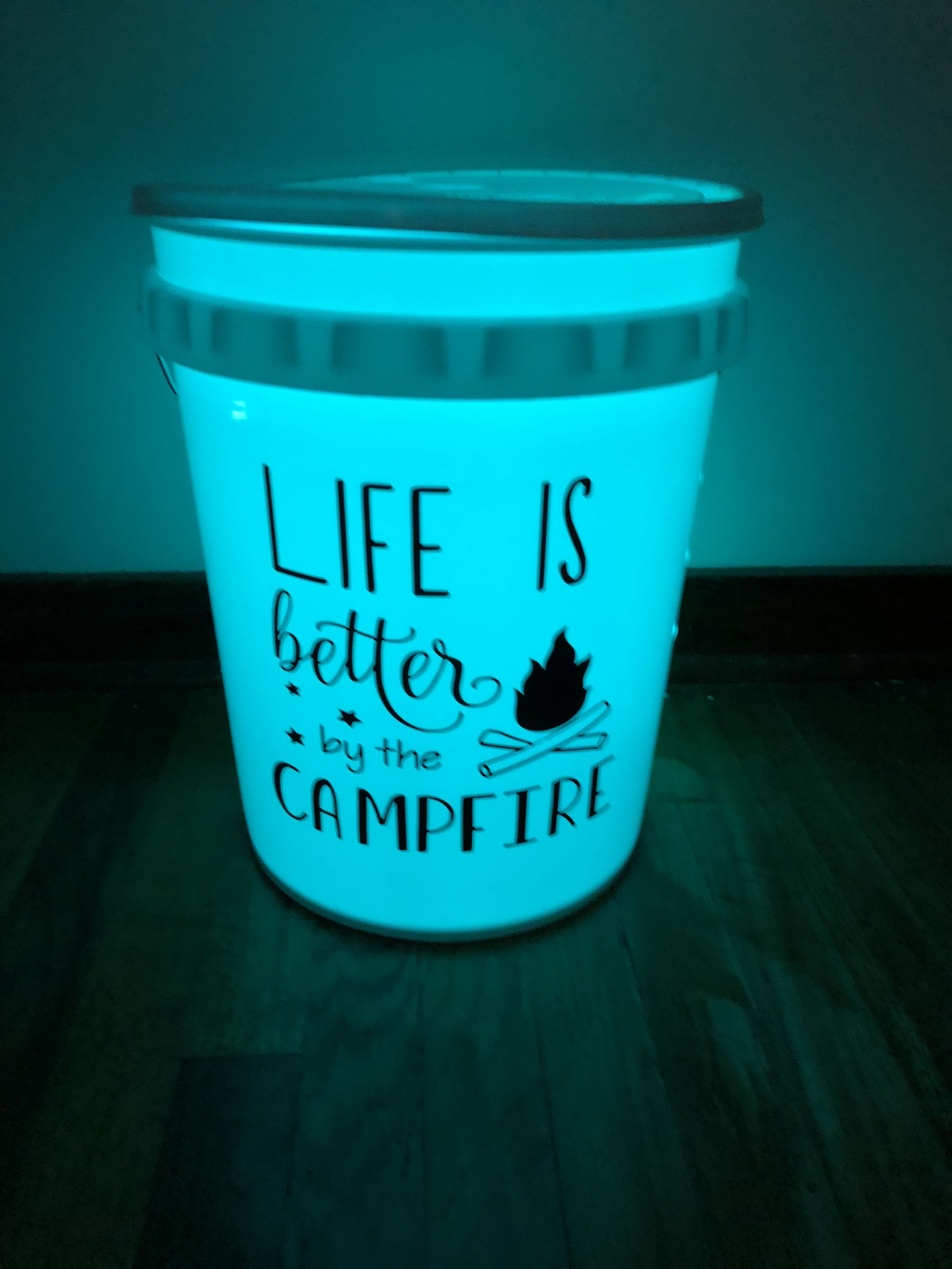 Camping Bucket Light 20 25 Personalized