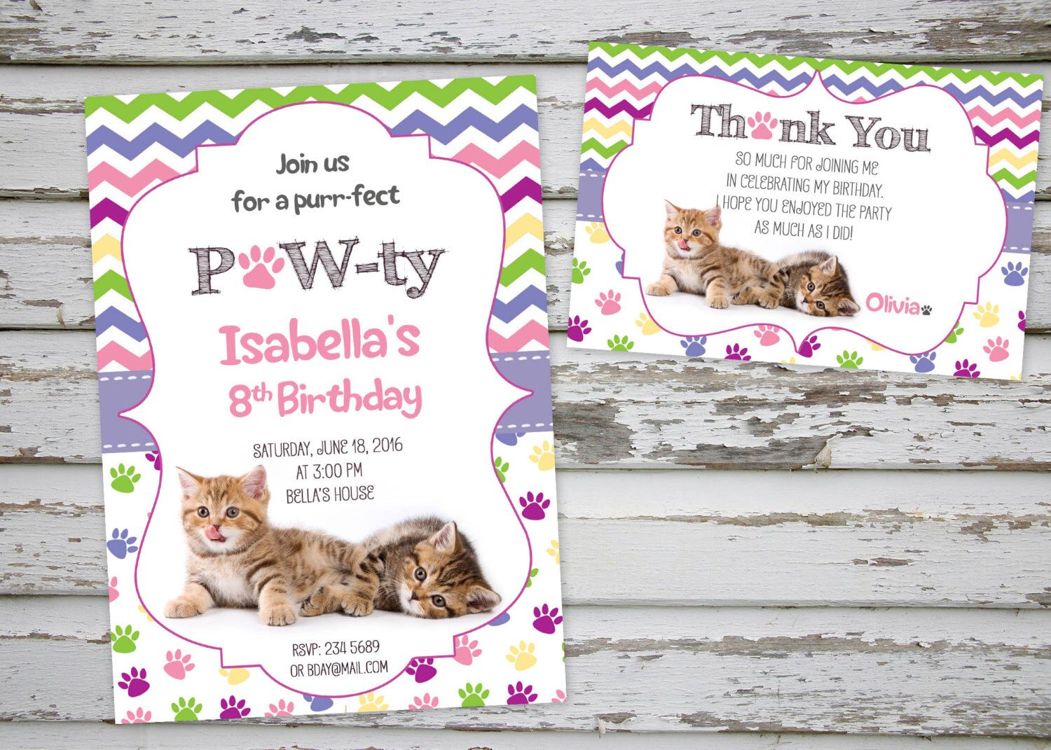 Cat Birthday Printables Kitty Kittens Cutest A Personal Favourite From My Etsy Shop