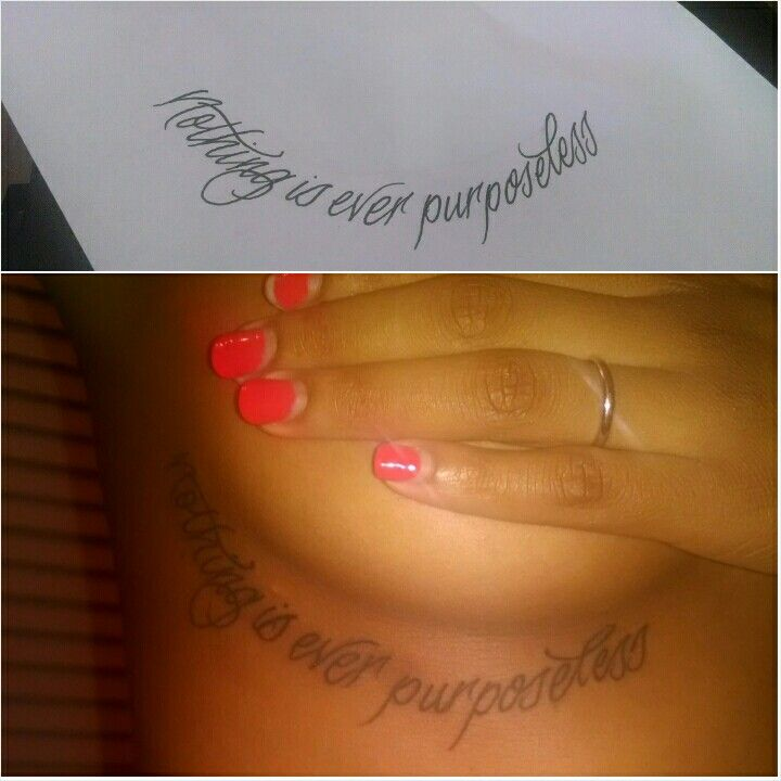 """My Newest Tattoo She Is A Soldier In The War Against: My Newest Tattoo, """"Nothing Is Ever Purposeless"""" [Nothing"""