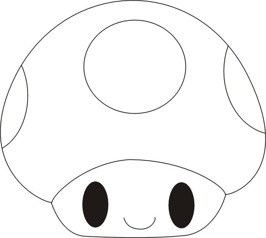 Mario Mushroom-esque Applique Template   Apliques em ...