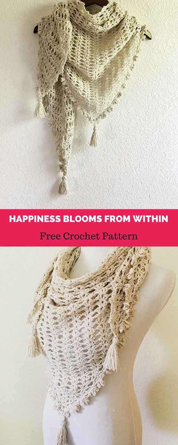 Happiness Blooms From Within [ FREE CROCHET PATTERN | Bufandas ...
