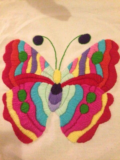 Mariposa | Bordado a mano | Pinterest | Mariposas, Bordado y ...