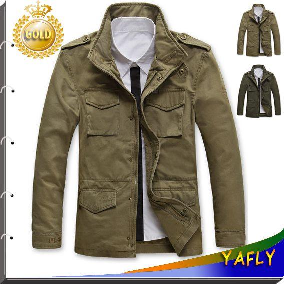 52a9d6e525c65 2015 nuevo estilo de chaquetas para hombre abrigos otoño y del invierno  marca escudo escudo Casual chaqueta para hombre militar moda hombre abrigo