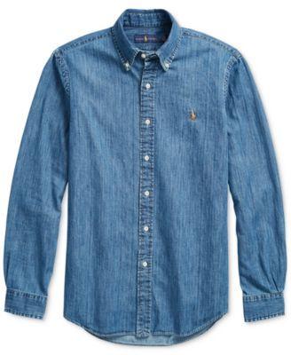 0bcb2588dd Polo Ralph Lauren Men s Classic-Fit Denim Shirt - Denim XXL