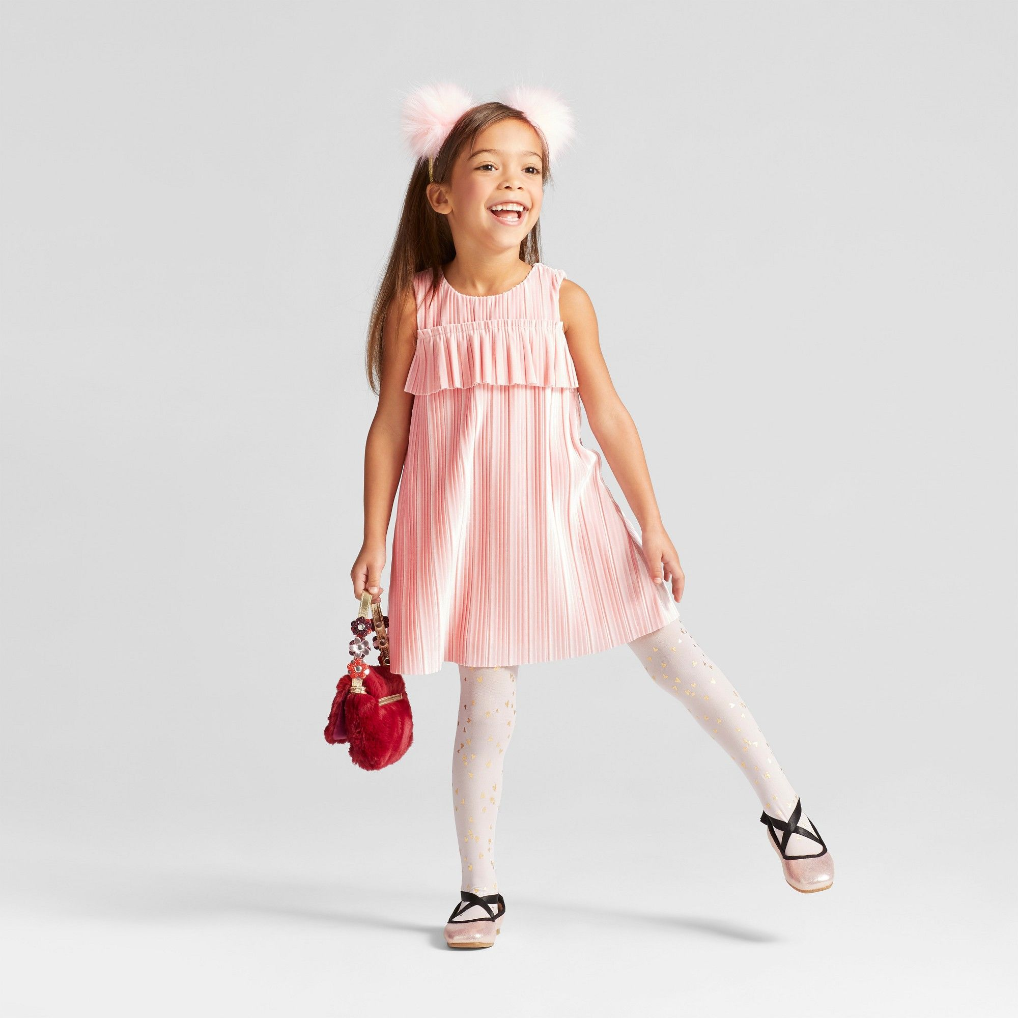 b44778ba96c Toddler Girls  Pleated Velour Dress Cat   Jack Restful Pink 2T ...