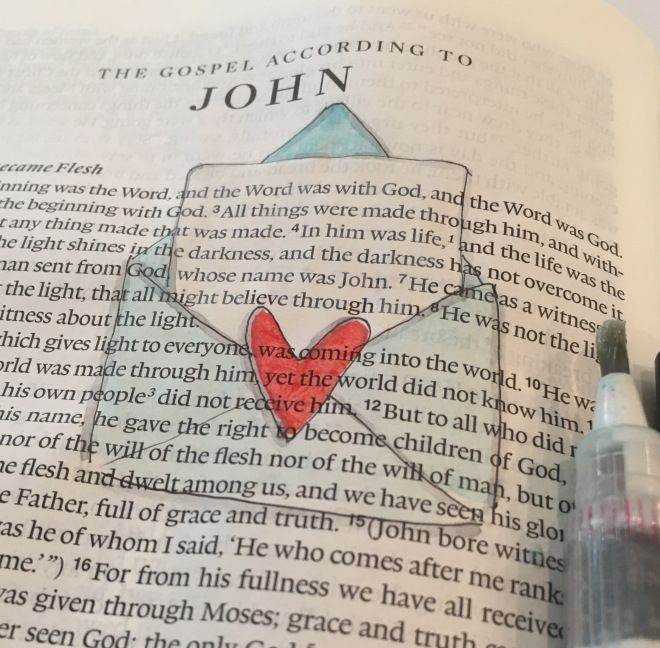 From Doodle to Bible / John 1 / Bullet Journalling with SHE READS TRUTH