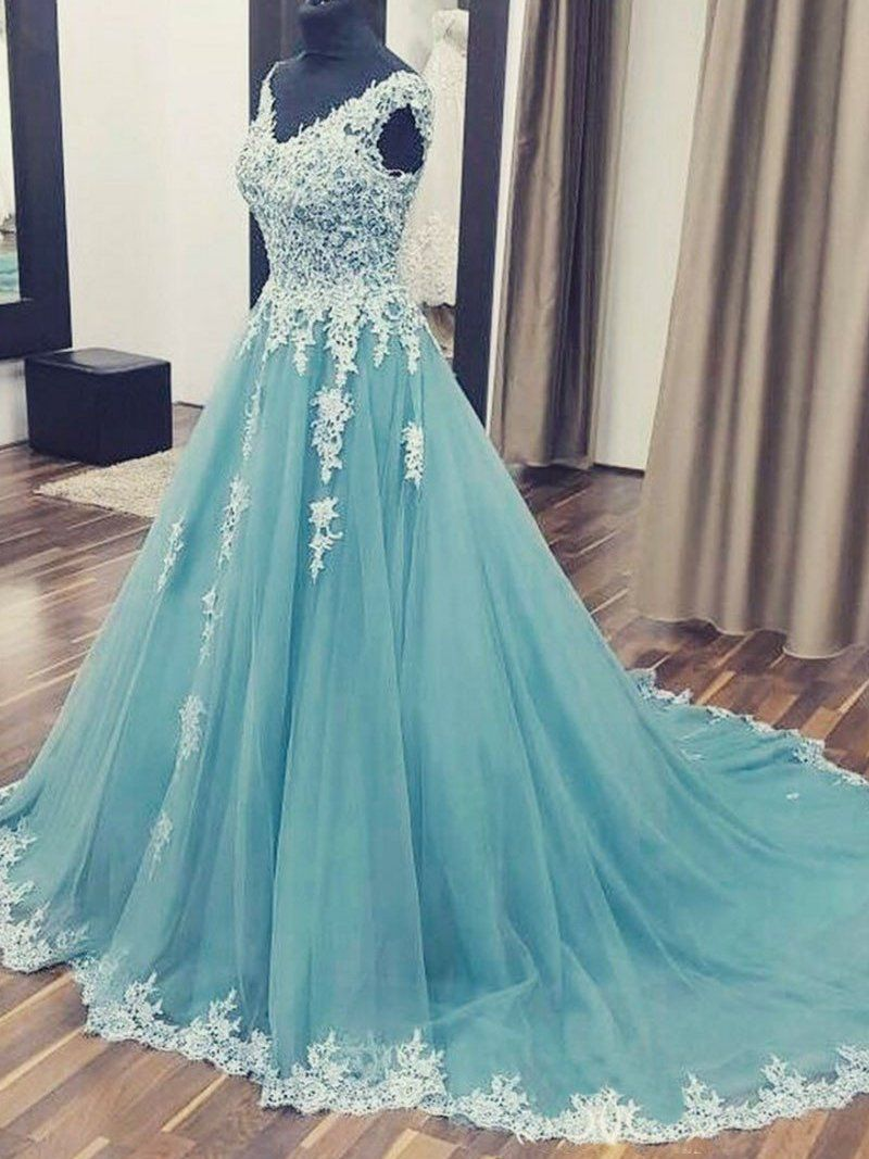 Beautiful Prom Dresses Ball Gown Sweep/Brush Train Sexy Prom Dress ...
