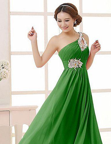 Vestido largo verde barato
