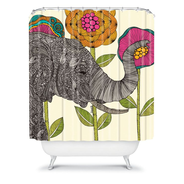Funky Shower Curtains By Deny Design 2 Elephant Shower Curtains
