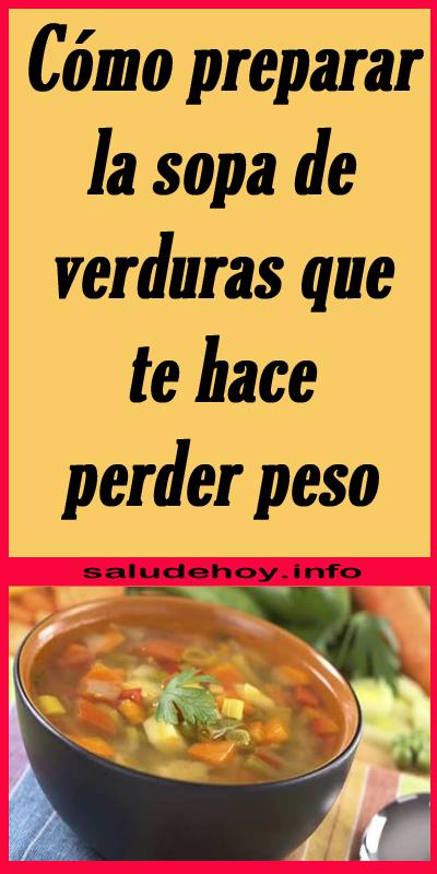 como preparar sopas de verduras para adelgazar