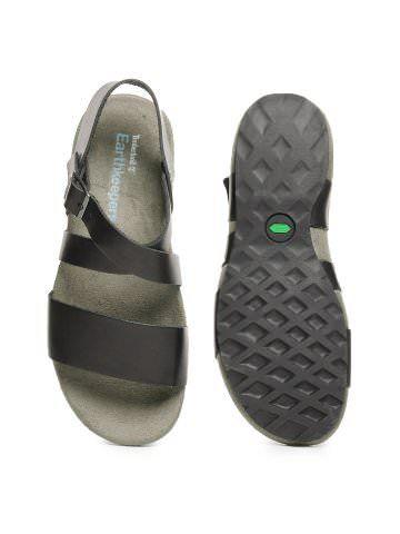 Timberland Men Black 3 Strap Slide Sandals  01f3d5b55777