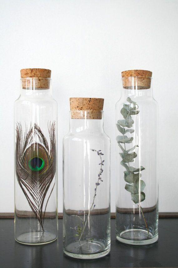 Glass Jars with Cork Lids