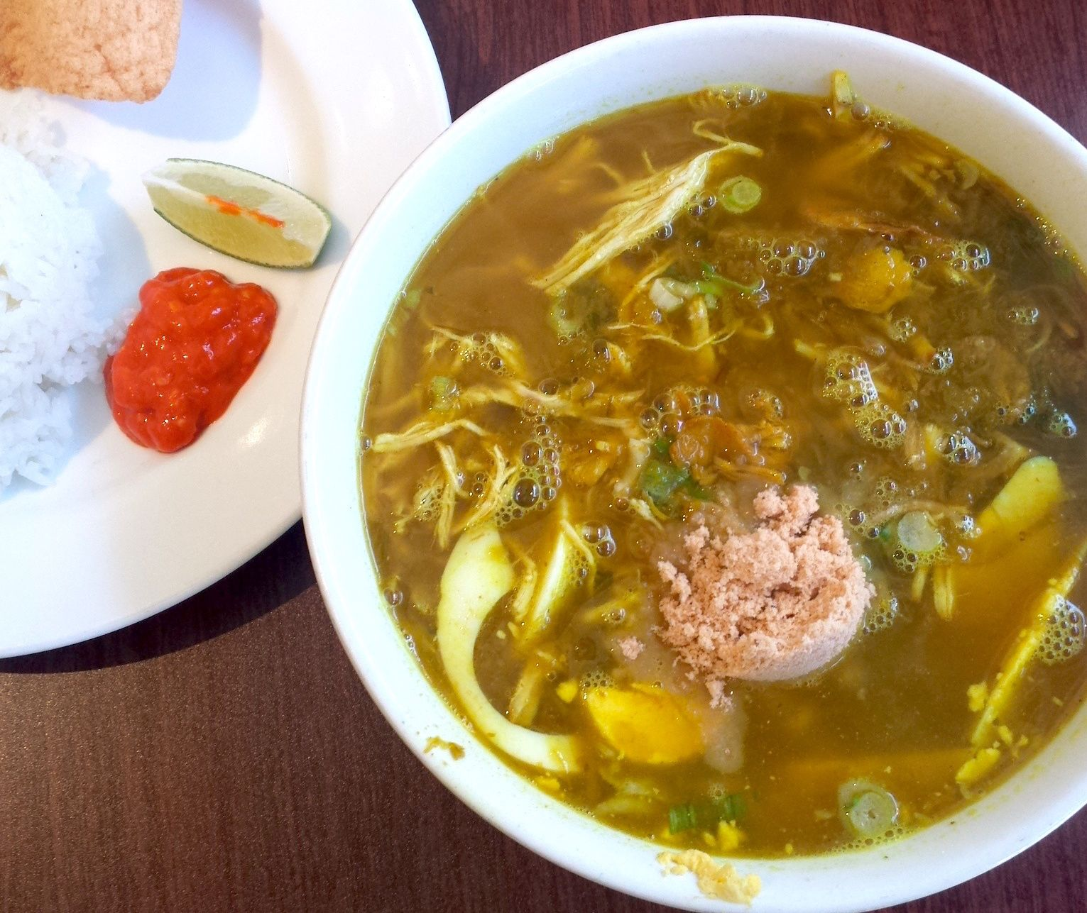 Asian taste 86s soto ayam is a bowl of indonesian comfort