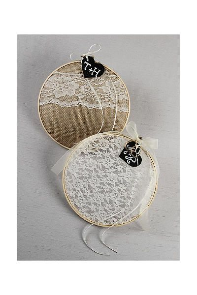 Ring Bearer Embroidery Hoop with Chalkboard Tag DB71009