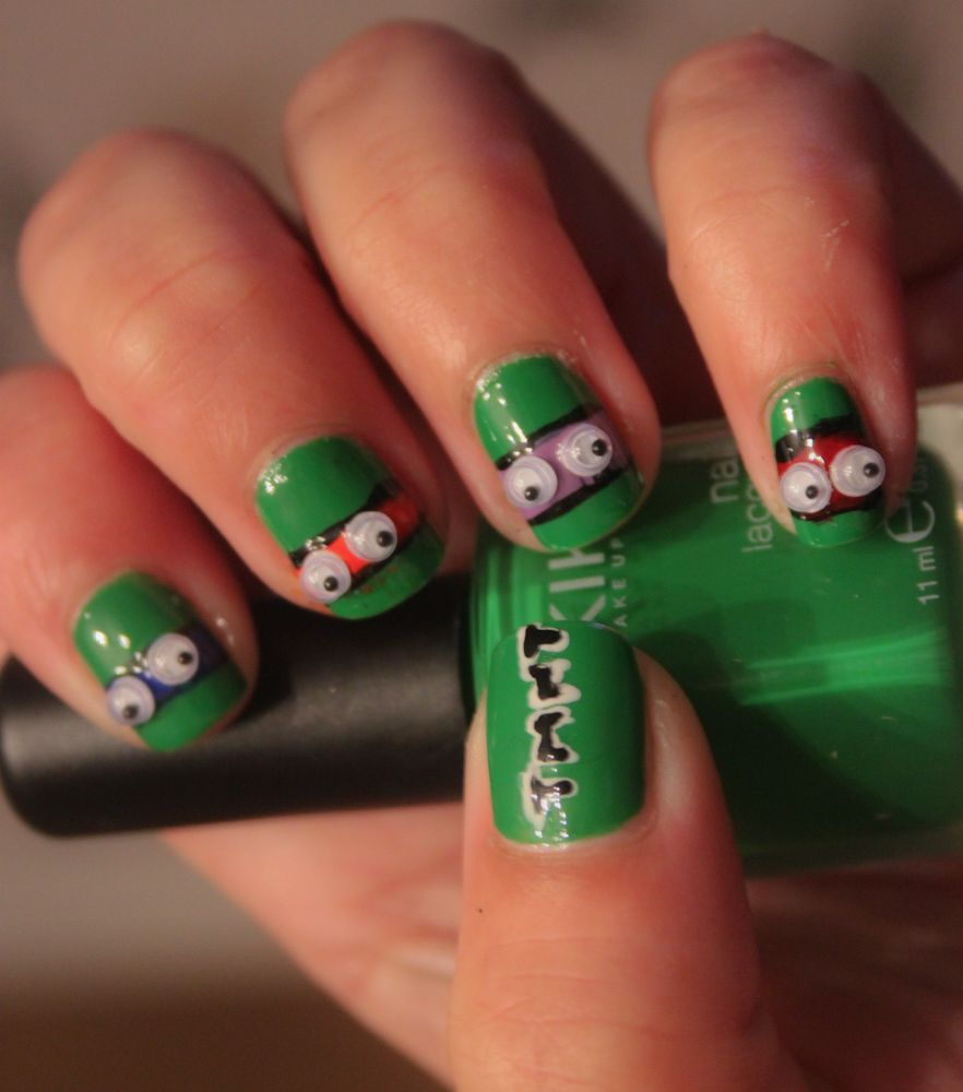 Cute Michelangelo an Leonardo nails.. | NAils | Pinterest | Turtle ...