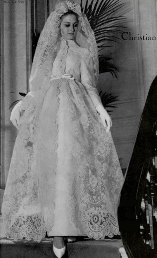 Wedding dress by Christian Dior, 1964 | Vintage Wedding Gowns ...