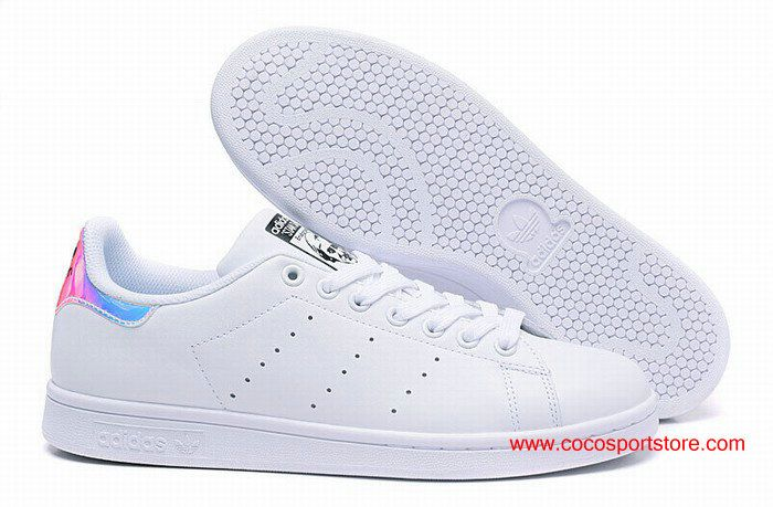 Adidas Stan Smith J AQ6272 White Colorful Laser For Women