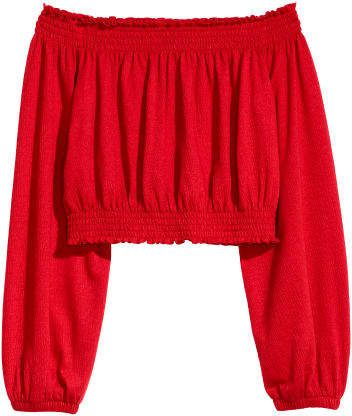 9b005912d9ad5 H M Off-the-shoulder top - Red