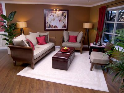 Living Room - replace the white rug with something darker or with ...