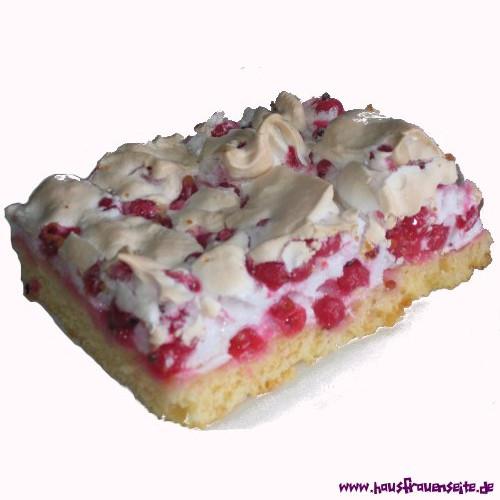 Johannisbeer-Blechkuchen mit Baiser #simplecheesecakerecipe