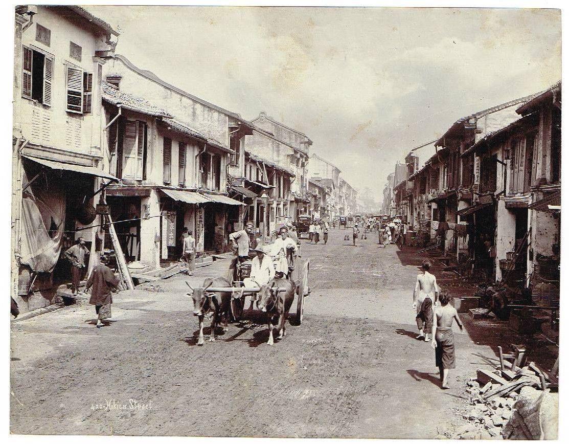 Old Singapore: Hokkien Street Chinatown 1890 #sgmemory