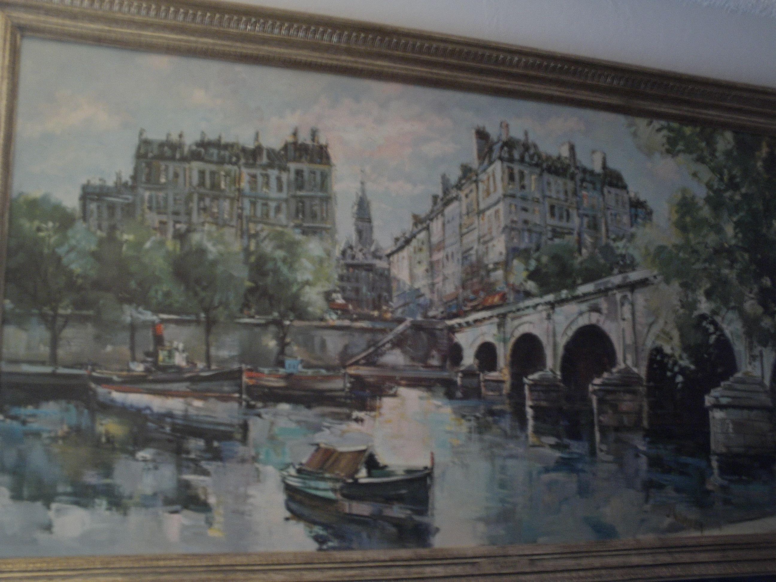 April In Paris J Warner Art Paris Painting