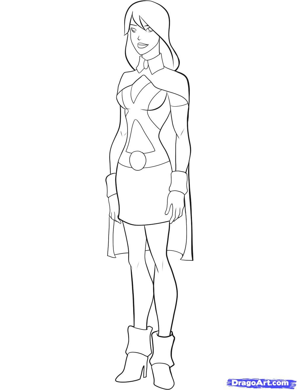 Young Justice Superboy Coloring Pages Pin by tiger lily on draw ...