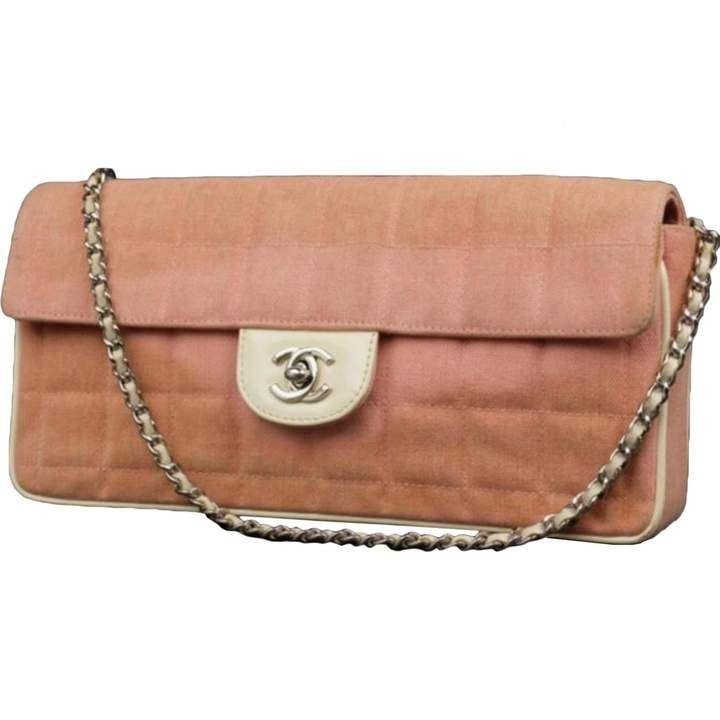 5f401046fdc803 Chanel East West Chocolate Bar crossbody bag. Chanel Vintage East West  Chocolate Bar Pink ...
