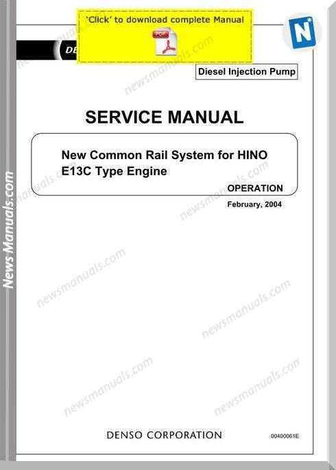 Denso common rail hino e13c service manual – Artofit