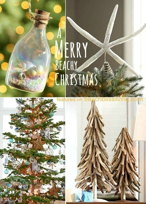 Beach Christmas Decorations & Ideas Inspired by Sea, Sand & Shells - Beach Christmas Decorations & Ideas Inspired By Sea, Sand & Shells