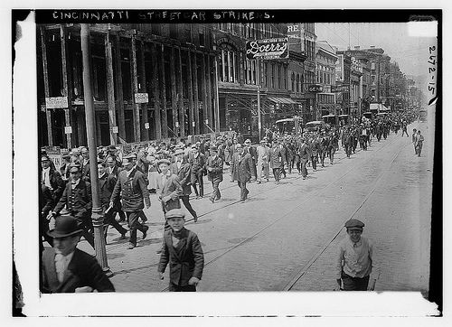 Old Time Cincy - Cincinnati Streetcar Strikers from: Library of Congress, Prints and Photographs Division, Washington, D.C. 20540 USA